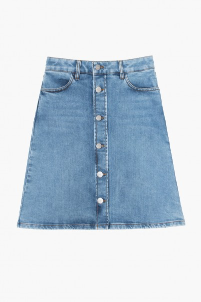Stella Denim Skirt - Blue
