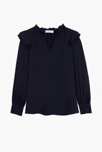 Lexi Blouse - Dark Navy