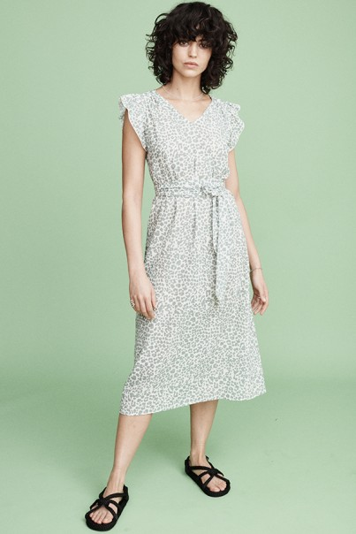Margot Dress - Green Leo